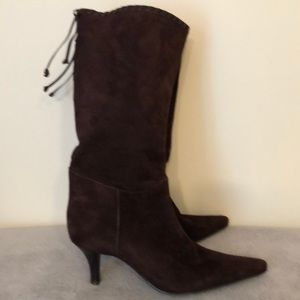 Nine West beautiful brown suede boots size 9.5 EUC